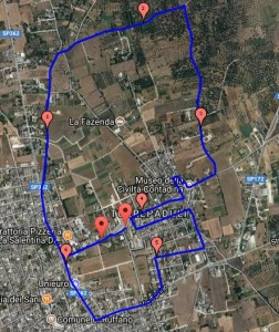 mappa 2a camminata